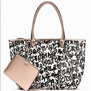 Victoria Secret Plastic Logo Beach Bag
